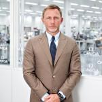 Daniel Craig visits Omega at Villeret