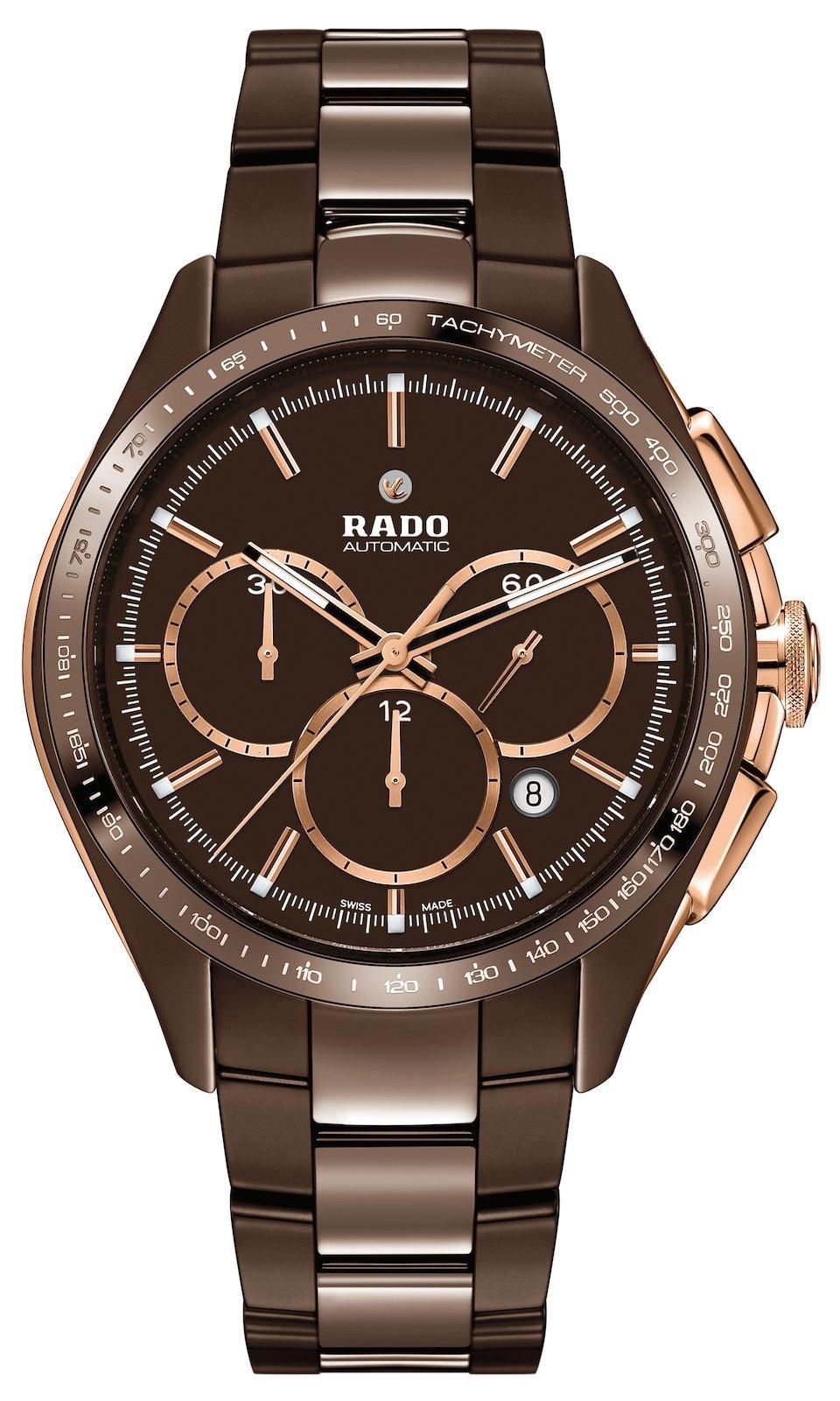 Nuevo Rado HyperChrome Chronograph de cerámica de alta tecnología color marrón chocolate