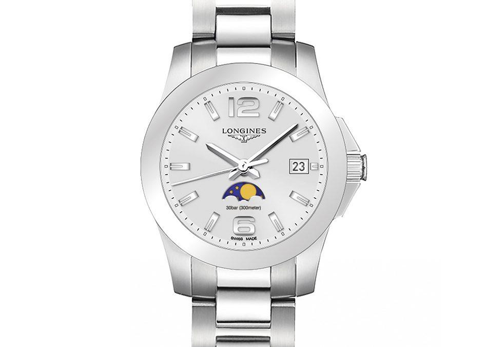 Longines presenta un nuevo modelo Conquest con indicador de fases lunares, reflejo de la elegancia deportiva de la marca