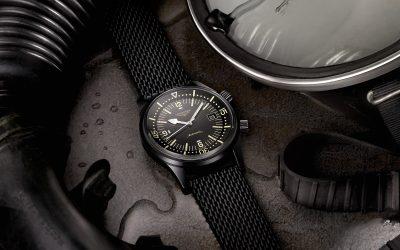 The Longines Legend Diver Watch: una versión en negro para una elegancia óptima