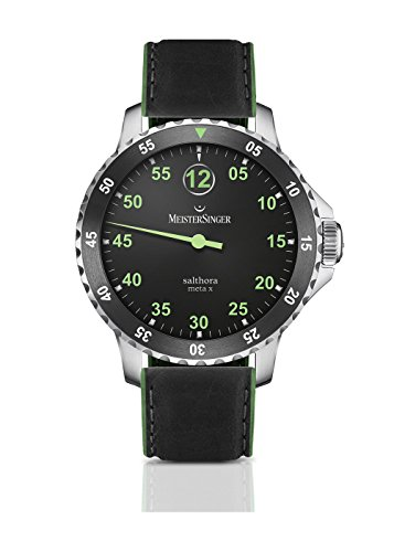MeisterSinger Salthora Meta X SAMX902GR Reloj automático con sólo una aguja
