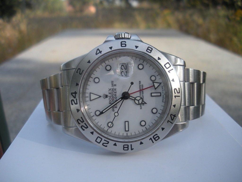 Rolex Explorer II 16570 esfera blanca