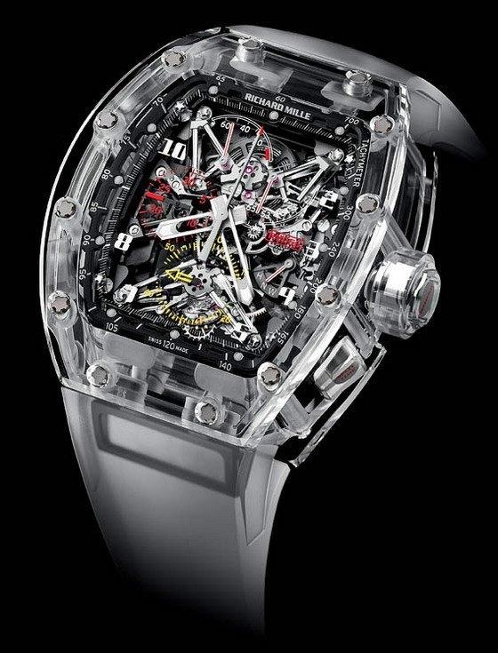 Nuevo reloj Richard Mille Cristal de zafiro, valorado en 1,65 millones de dólares