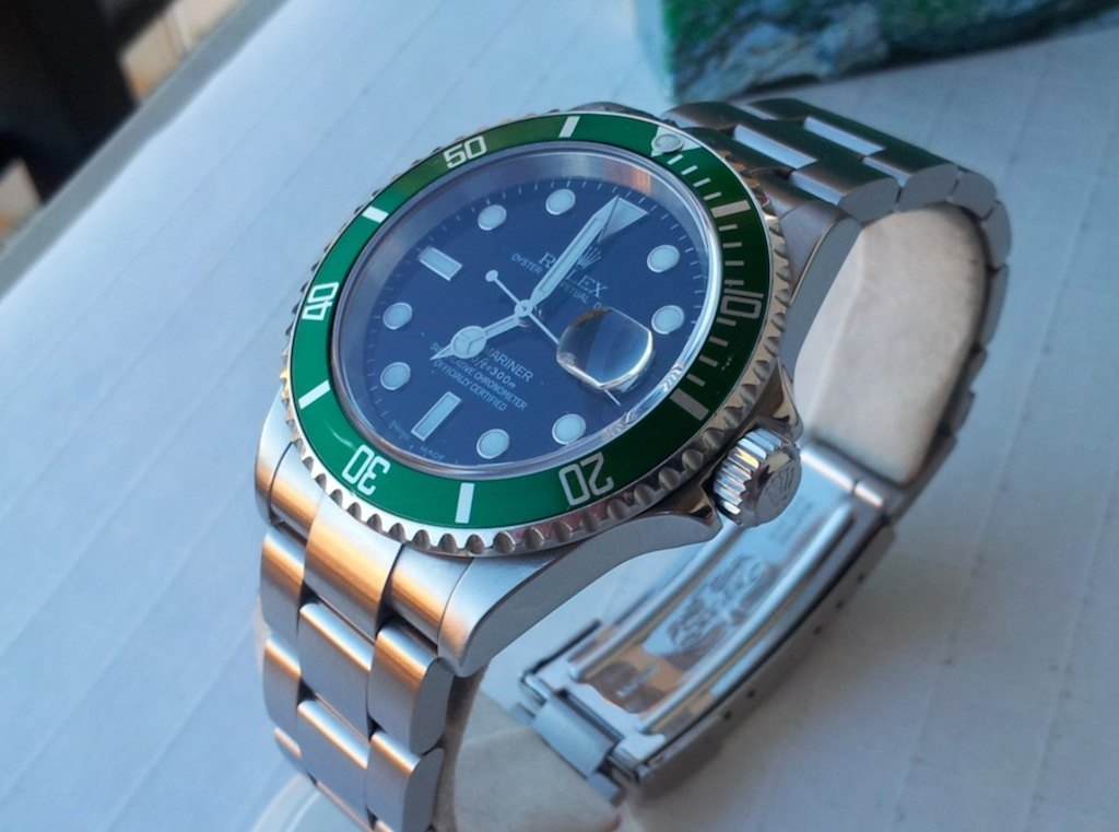 Rolex Submariner 16610LV 50 Aniversario – Serie F – 2003 – Fat 4 Mark I