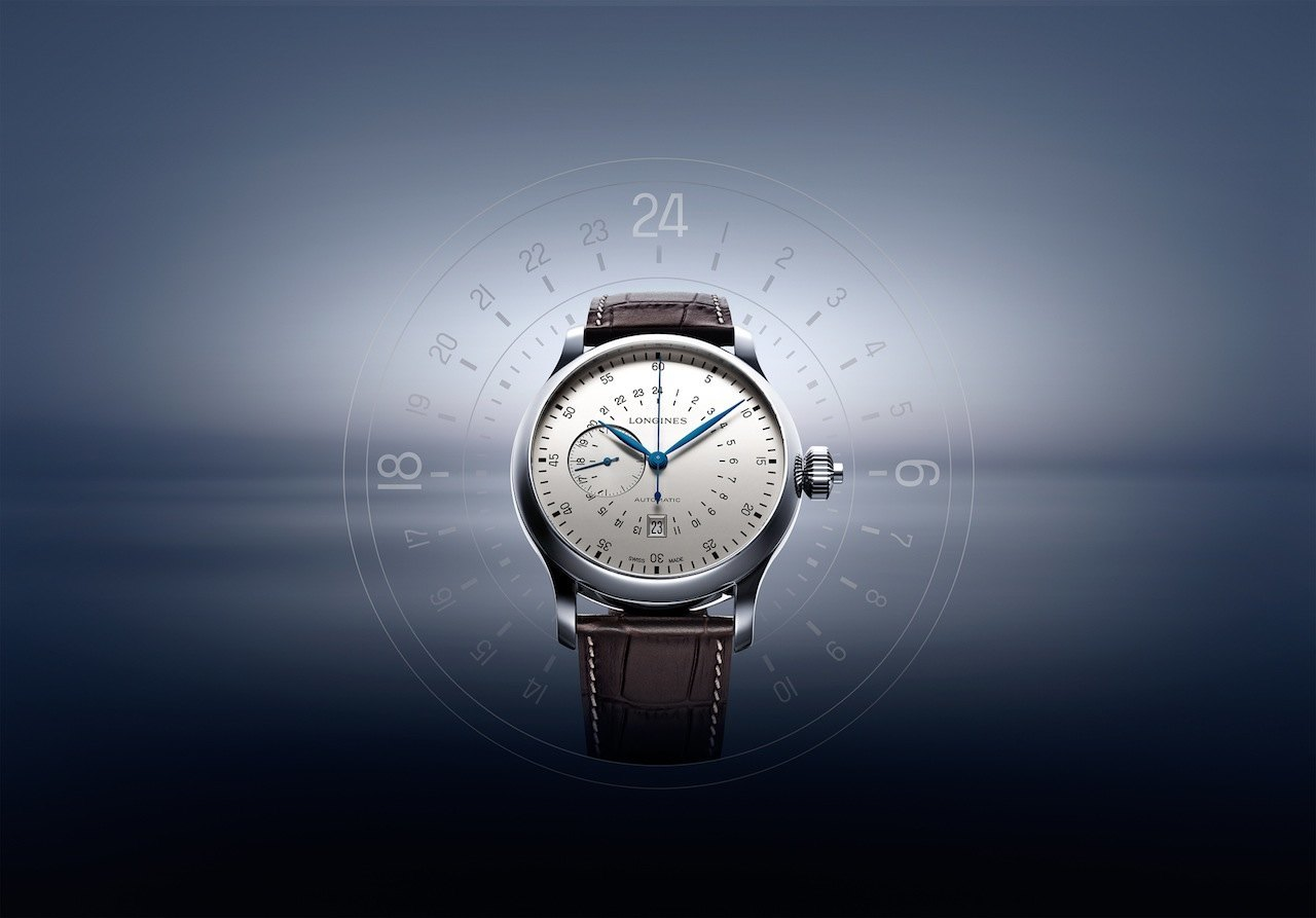 The Longines Twenty-Four Hours Single Push-Piece Chronograph