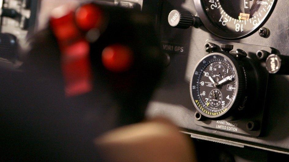 El Khaki Takeoff Auto Chrono Limited Edition suma un nuevo capítulo a la tradición aeronáutica de Hamilton