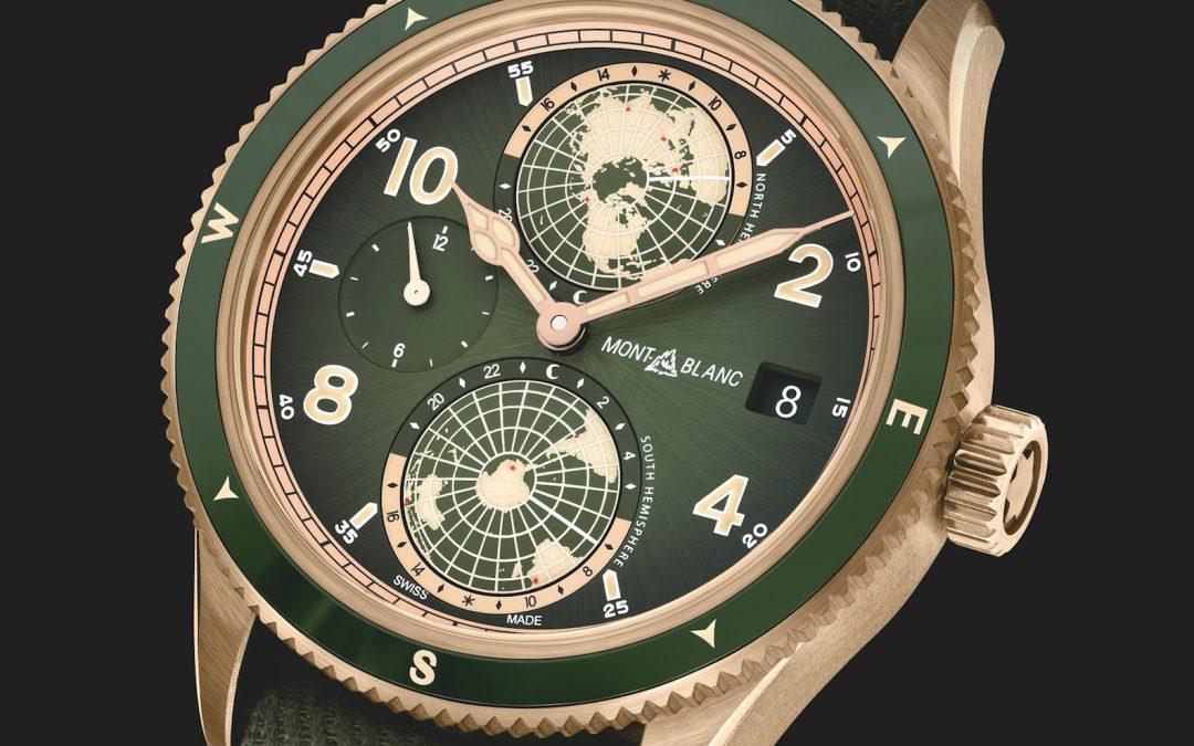 Conectar con la naturaleza con los nuevos relojes Montblanc 1858 en verde caqui