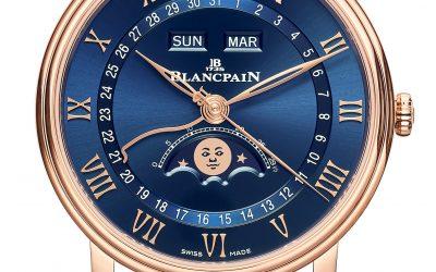 Blancpain Villeret Quantième Complet y Ultraplate. Un dúo de esferas azules para la colección Villeret