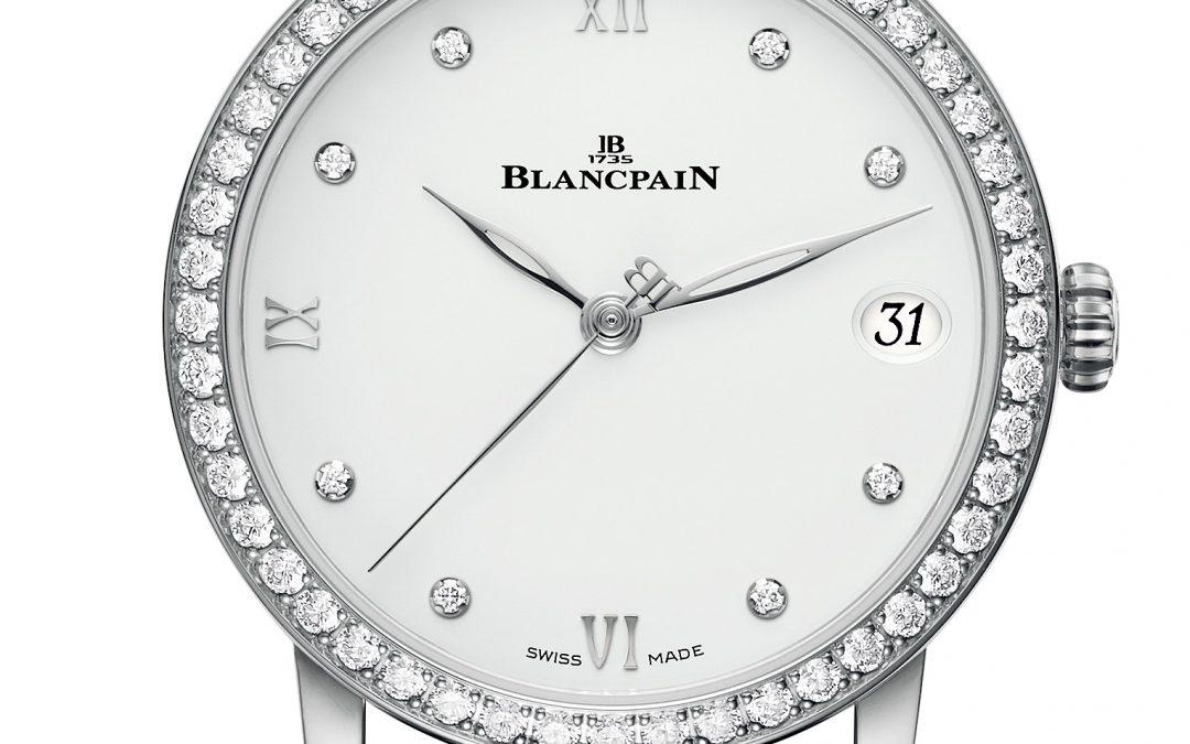 Un nuevo Blancpain Villeret Date para mujer, disponible en todas las combinaciones