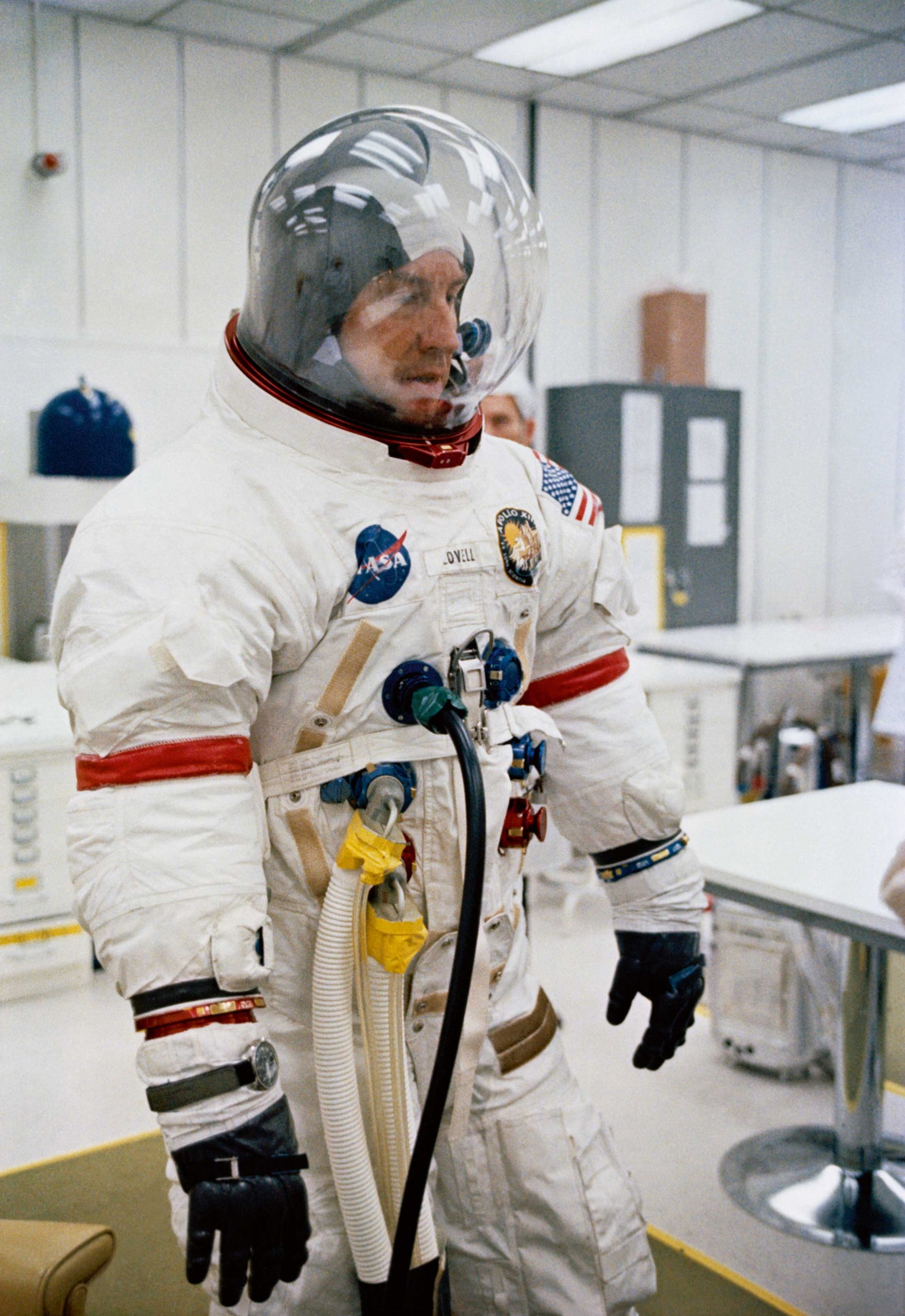 Astronaut James A Lovell Jr commander for NASA Apollo 13 mission
