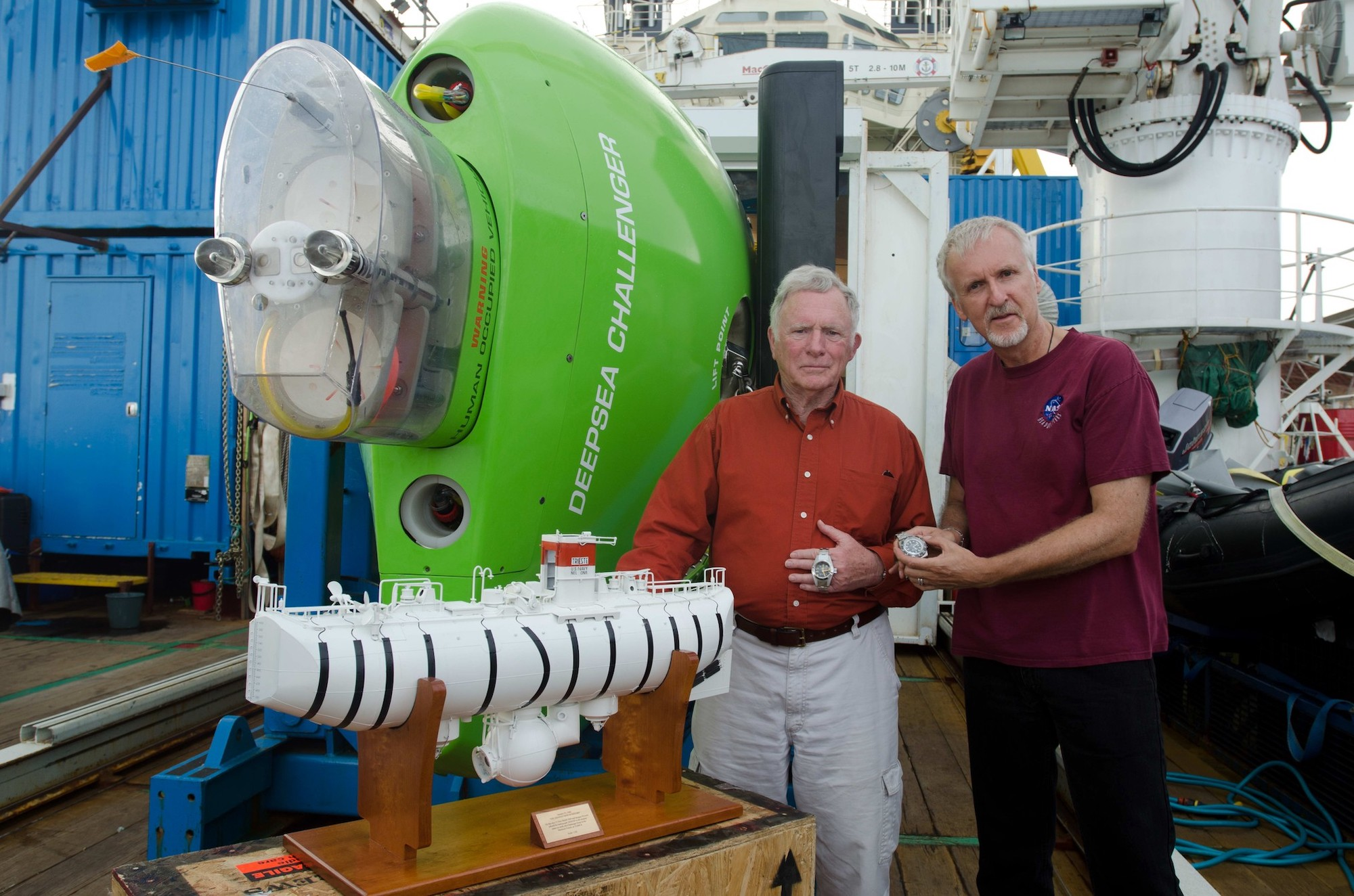 Don Walsh y James Cameron Rolex Deepsea Challenge