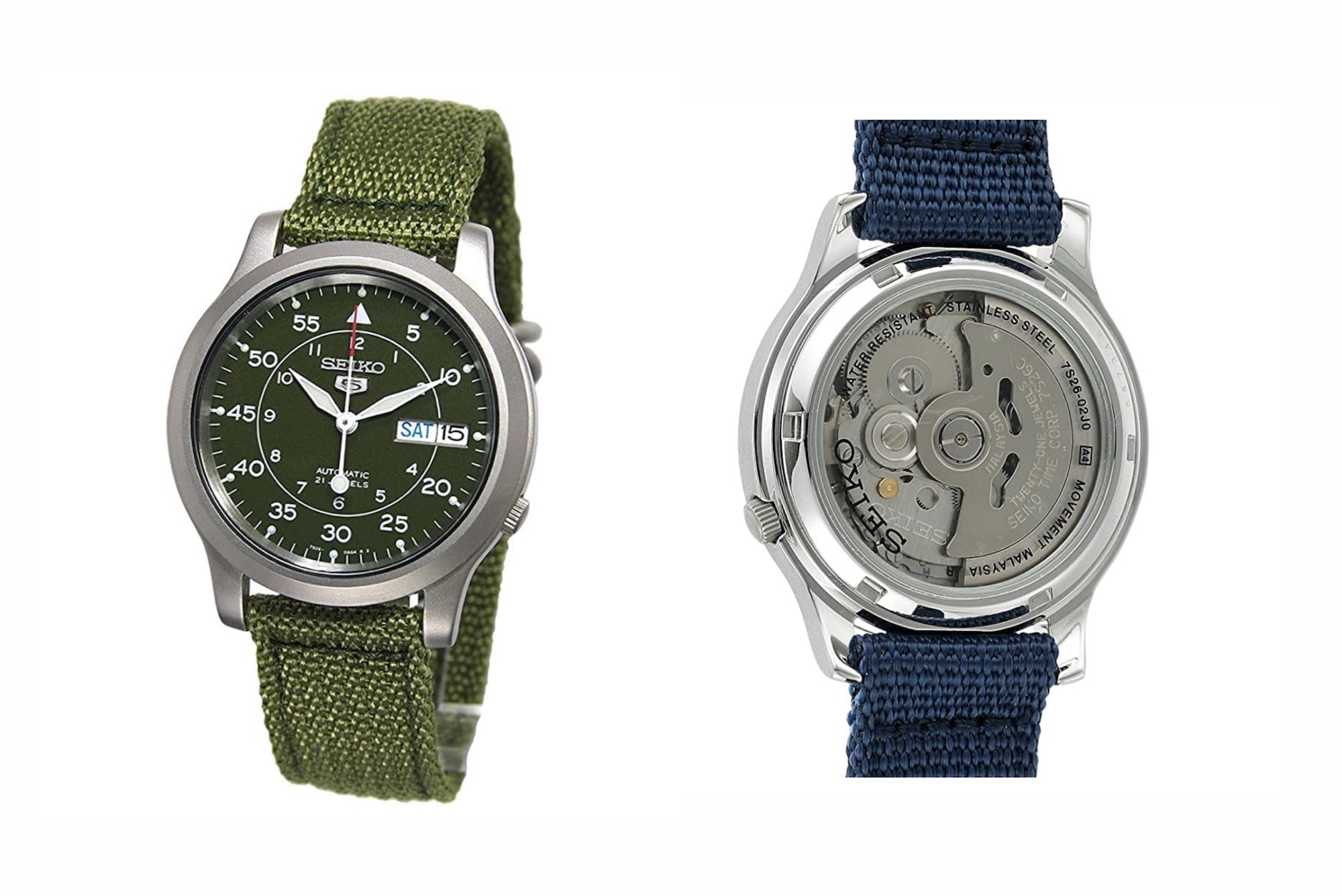 Seiko 5 Military front and back