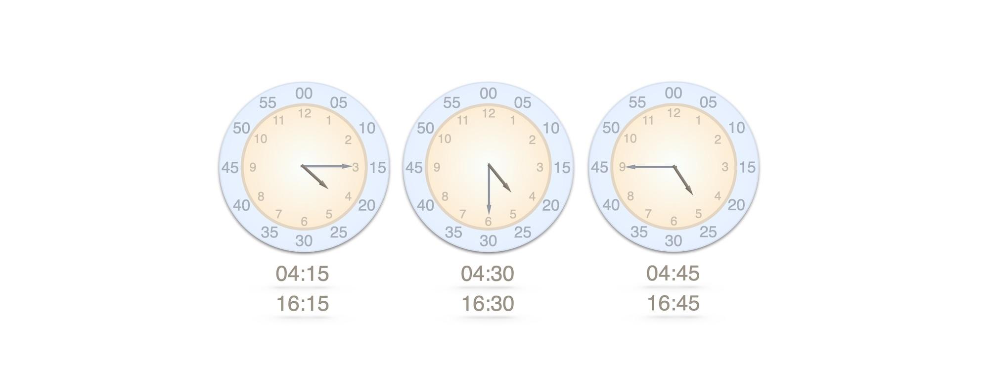 Aprender las horas horas especiales