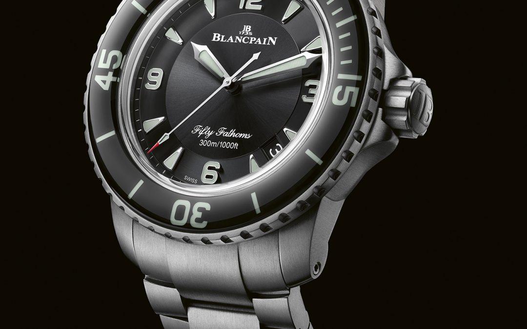 Blancpain Fifty Fathoms Automatique y Grande Date, ahora con brazalete de titanio