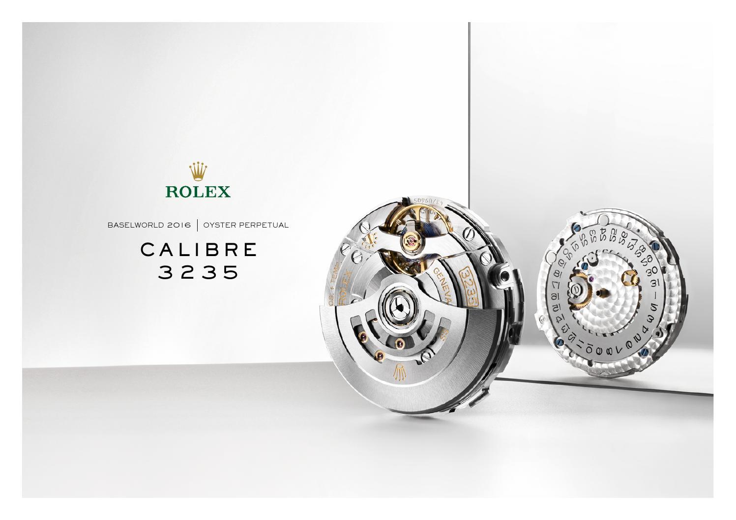 Calibre Rolex 3235