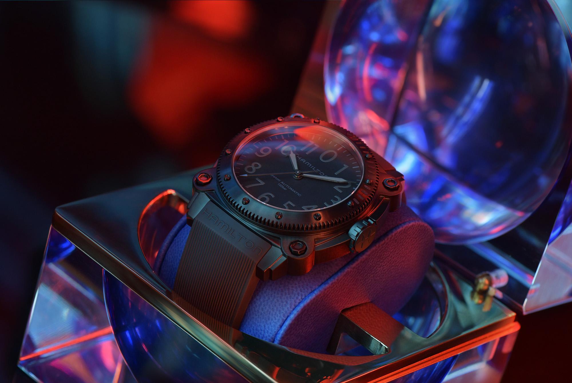 Hamilton Belowzero Titanium Limited Edition Blue H78505331 estuche 3