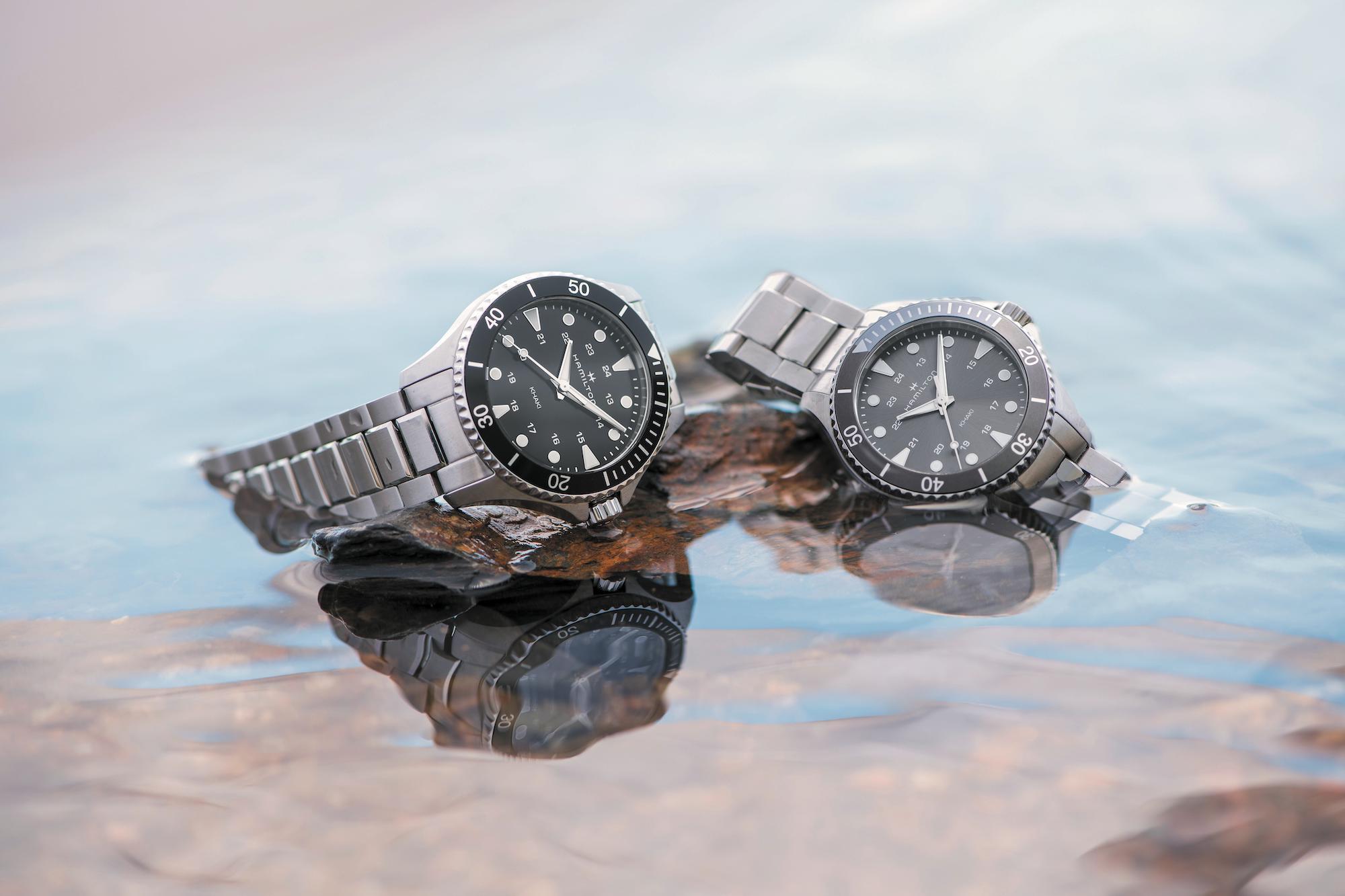 Hamilton Khaki Navy Scuba H82201131 y H82211181 lifestyle
