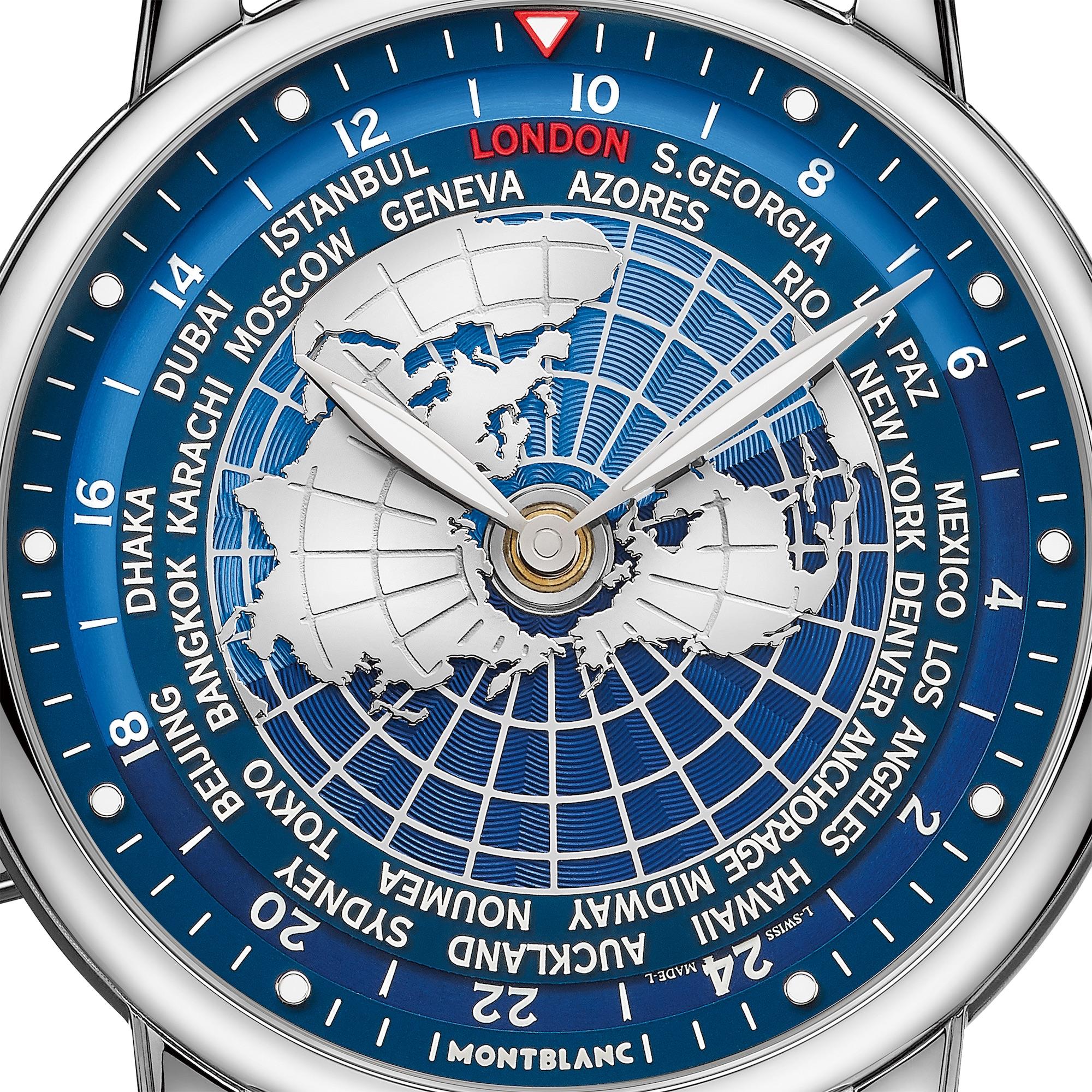 Montblanc Star Legacy Orbis Terrarum ref. 126108 detalle esfera