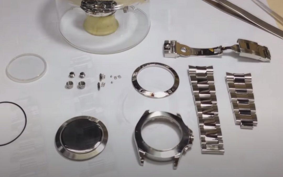 Partes de un reloj de pulsera