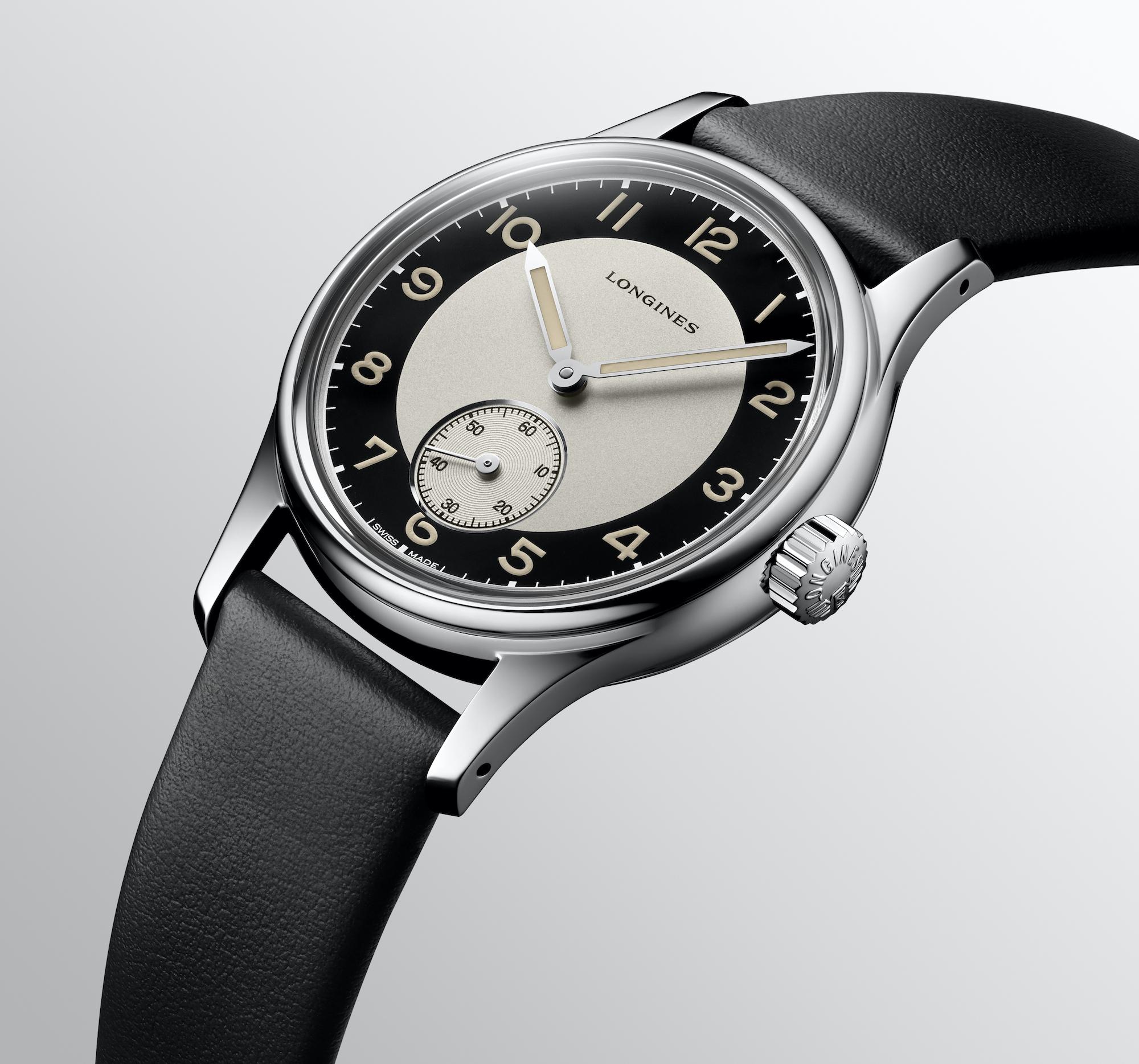 The Longines Heritage Classic - Tuxedo L2.330.4.93.0 detalle carrura