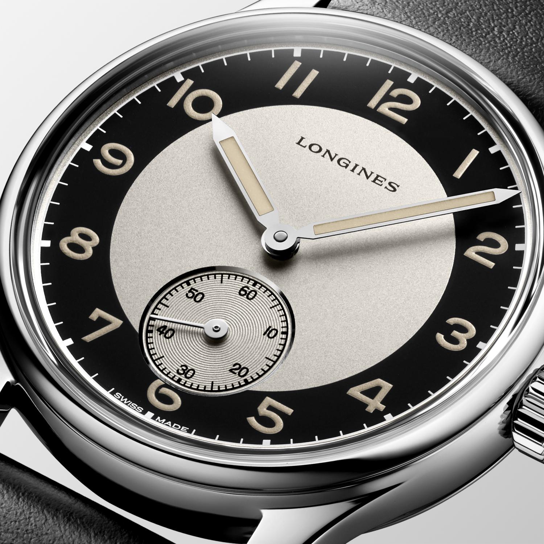 The Longines Heritage Classic - Tuxedo L2.330.4.93.0 detalle esfera