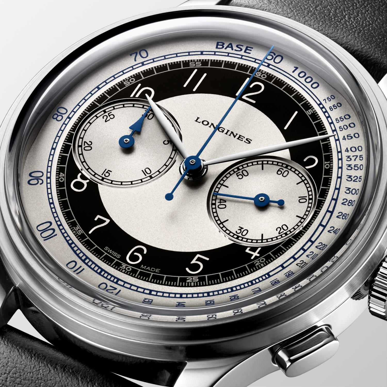 The Longines Heritage Classic - Tuxedo L2.830.4.93.0 detalle esfera