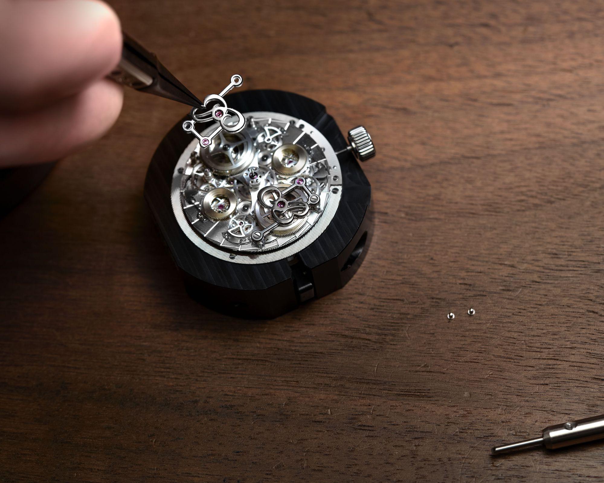 Breguet Classique Double Tourbillon Quai de l'Horloge 5345 detalle barrilete
