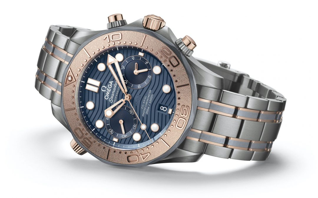Omega Seamaster Diver 300M Chronograph en oro, titanio y tantalio