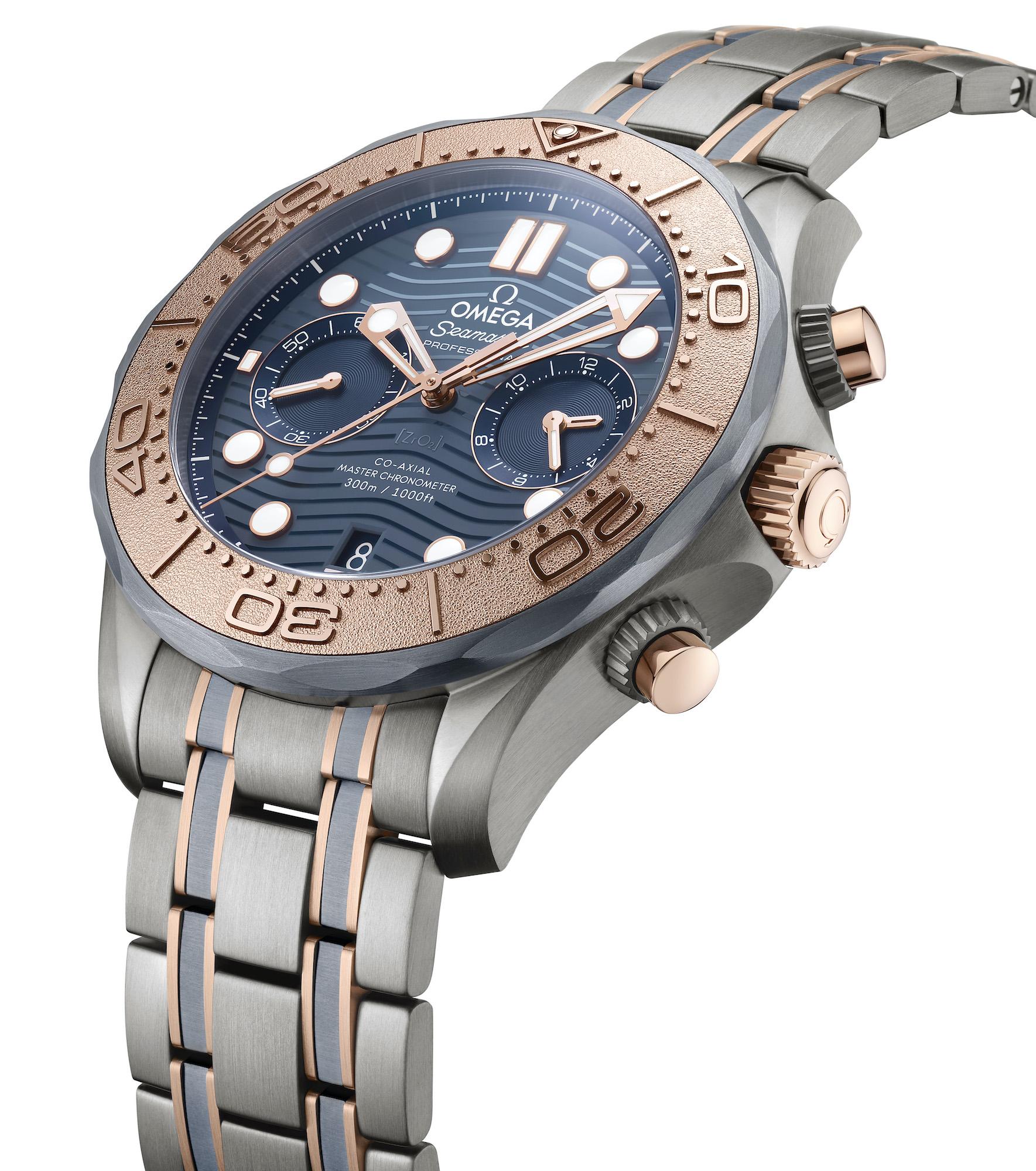 Omega Seamaster Diver 300M Chronograph oro titanio tantalio 210.60.44.51.03.001 2