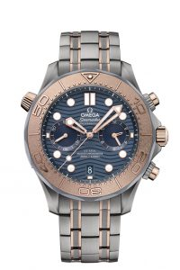 Omega Seamaster Diver 300M Chronograph oro titanio tantalio 210.60.44.51.03.001 frontal