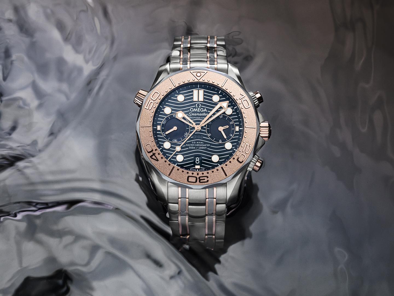Omega Seamaster Diver 300M Chronograph oro titanio tantalio 210.60.44.51.03.001 lifestyle