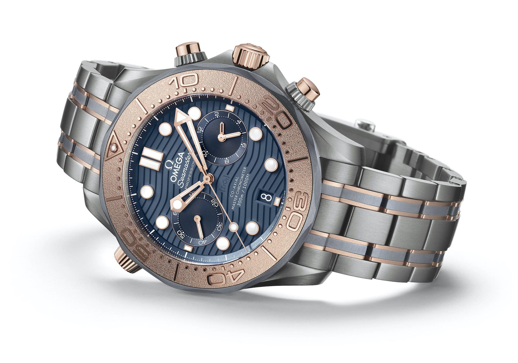 Omega Seamaster Diver 300M Chronograph oro titanio tantalio 210.60.44.51.03.001
