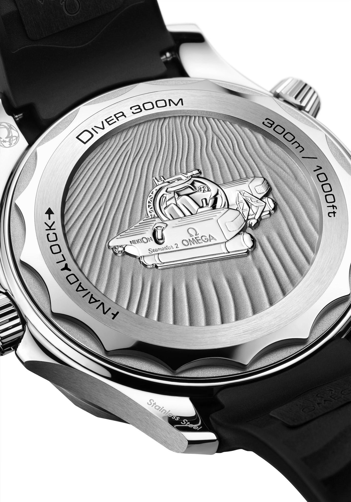 Omega Seamaster Diver 300M Nekton Edition 210.32.42.20.01.002 detalle trasera