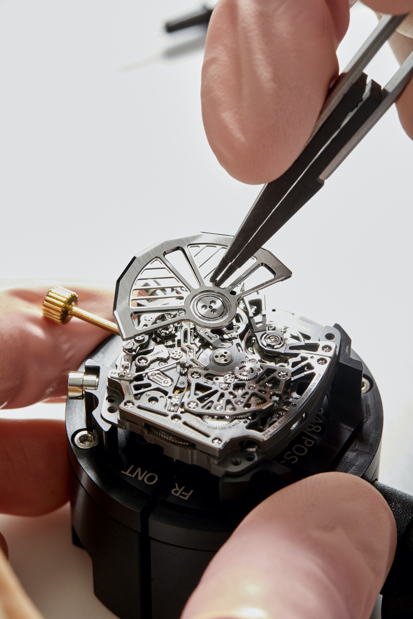 Richard Mille RM 72-01 Lifestyle Chronograph detalle montaje de rotor