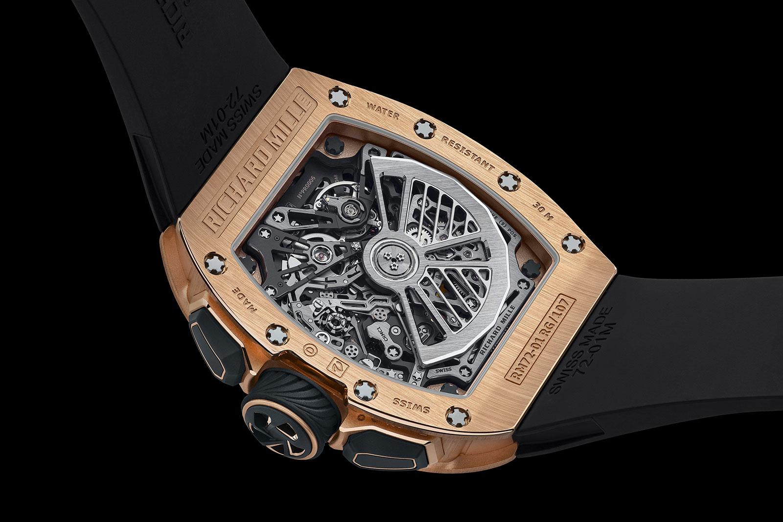 Richard Mille RM 72-01 Lifestyle Chronograph detalle trasera