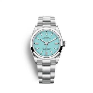 Rolex Oyster Perpetual 36 126000 azul turquesa