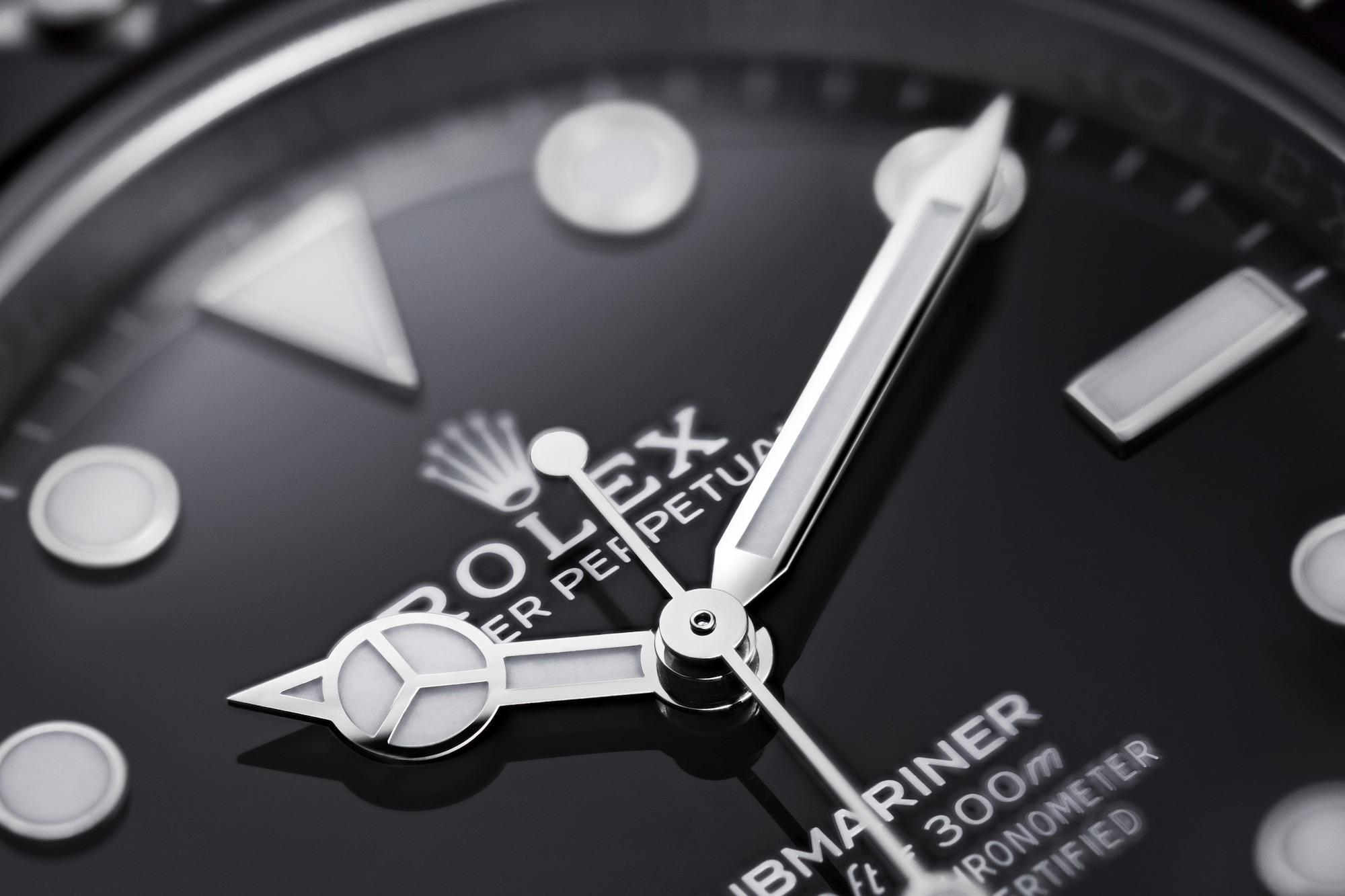 Rolex Submariner No Date 124060 detalle esfera