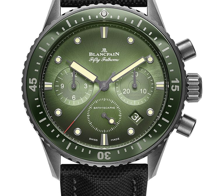 Blancpain Fifty Fathoms Bathyscaphe Chronographe Flyback Green Dial