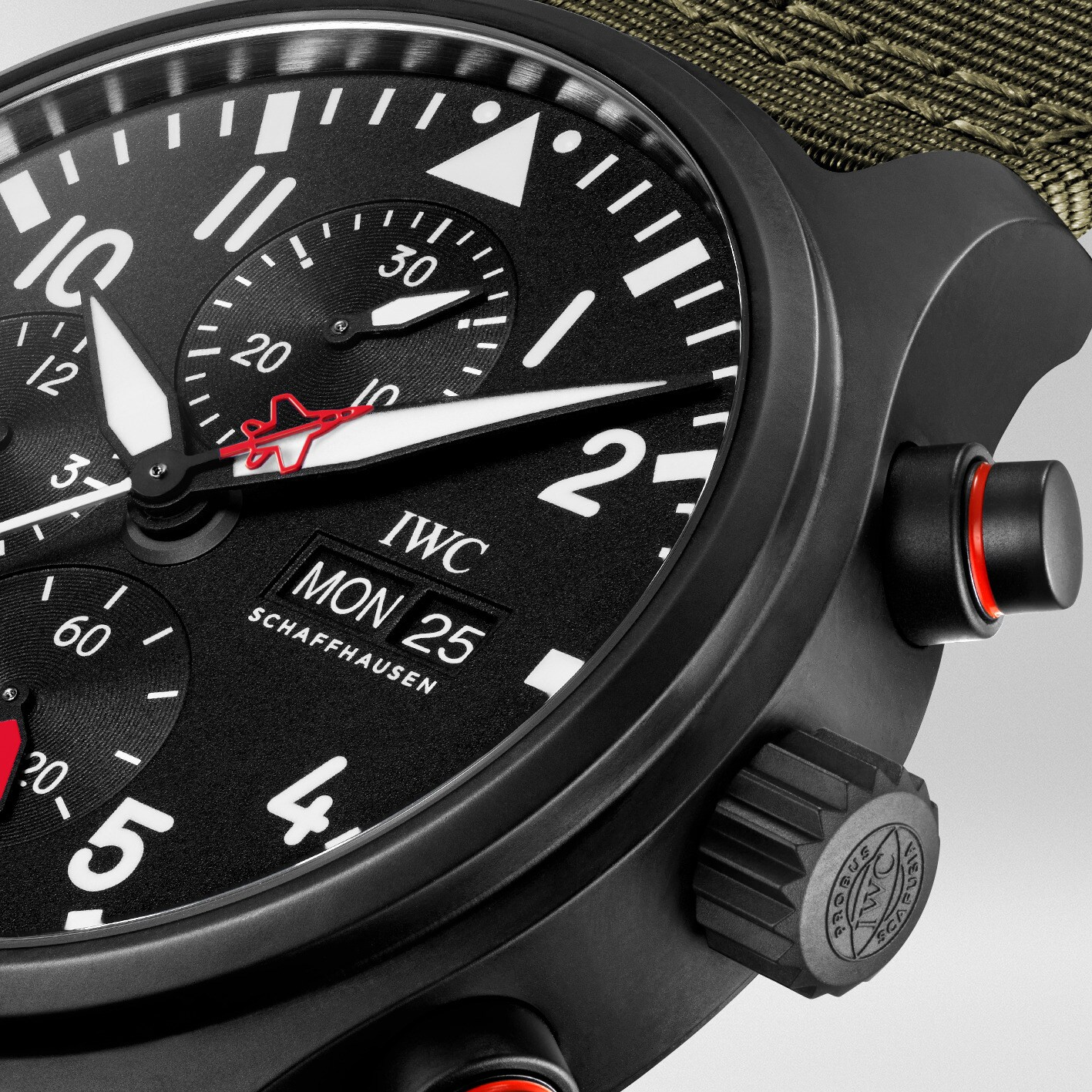 Iwc Pilot Watch Chronograph Top Gun Edition SFTI IW389104 detalle carrura