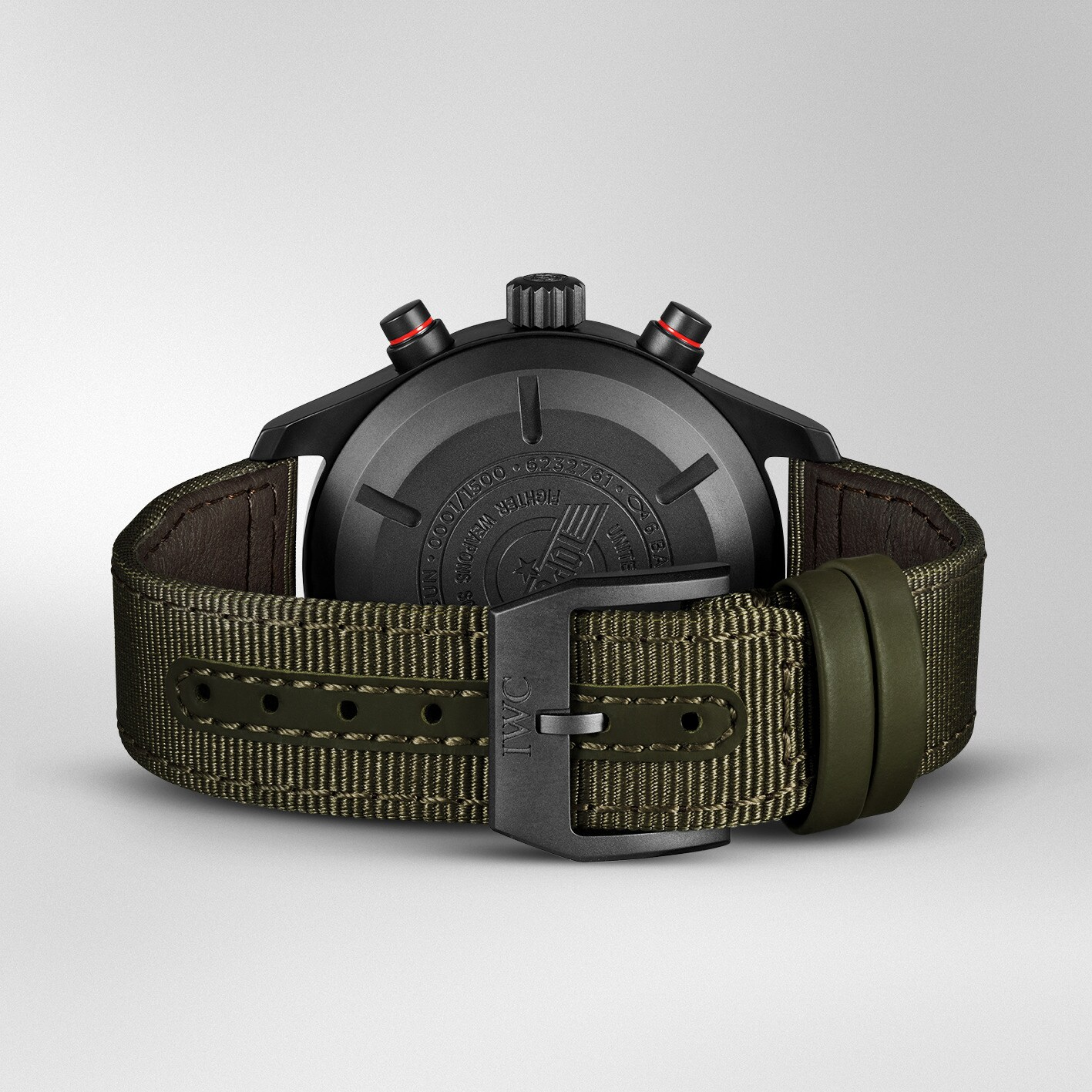 Iwc Pilot Watch Chronograph Top Gun Edition SFTI IW389104 trasera y correa