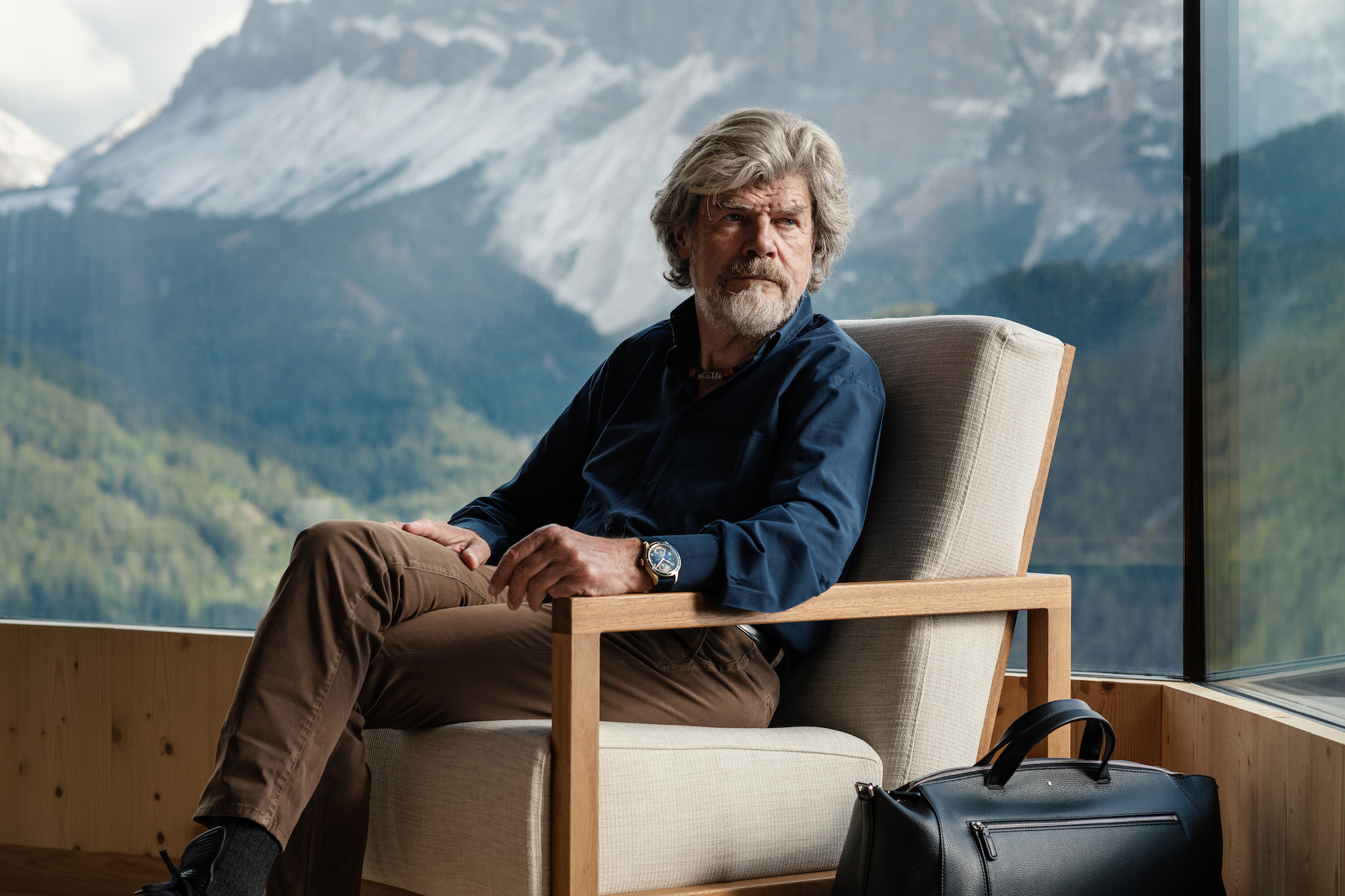 Montblanc 1858 Geosphere Messner Limited Edition 262 pieces - Reinhold Messner lifestyle 2