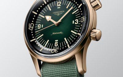 The Longines Legend Diver Watch se viste de bronce