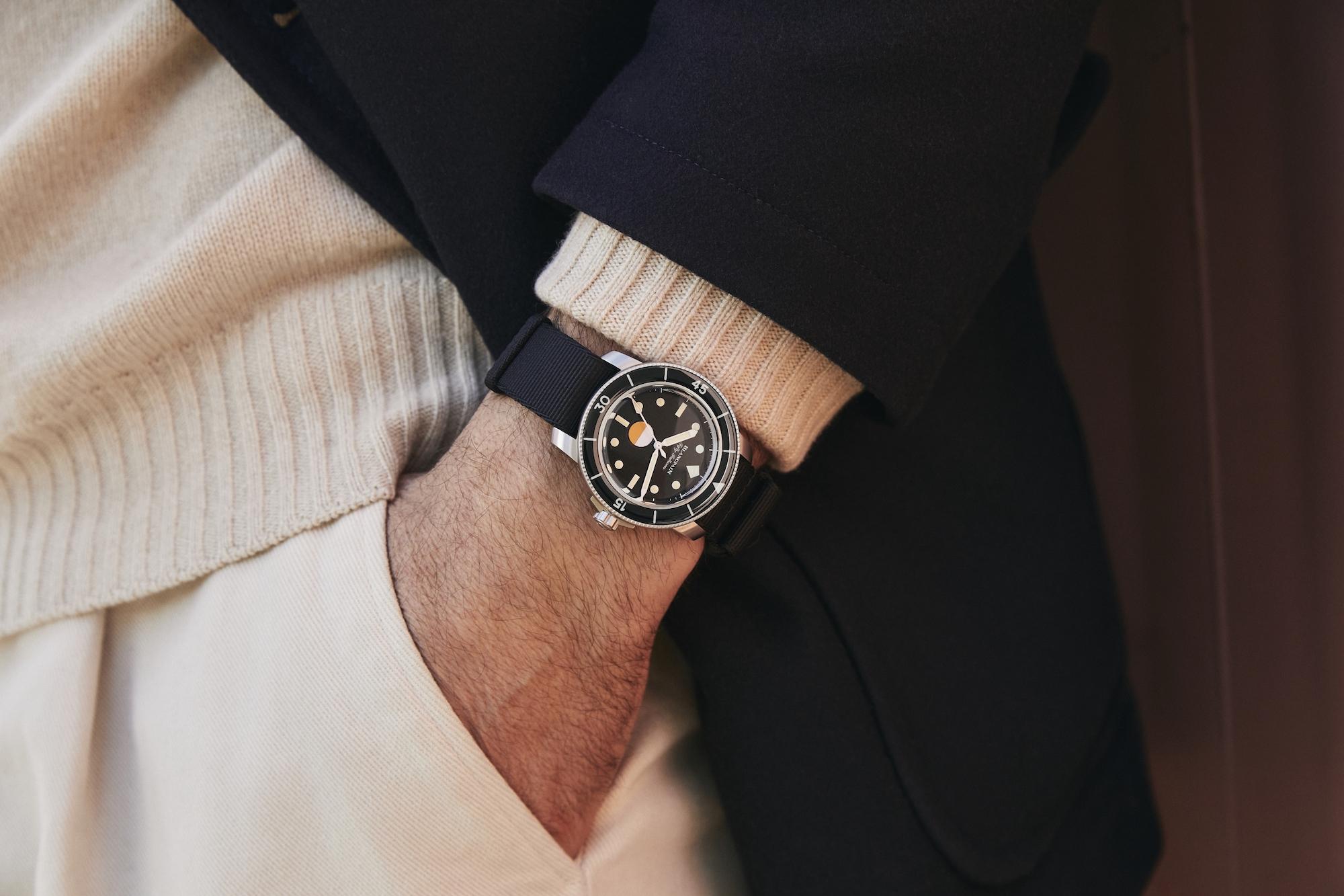 Blancpain Fifty Fathoms MIL-SPEC Hodinkee lifestyle wristshot