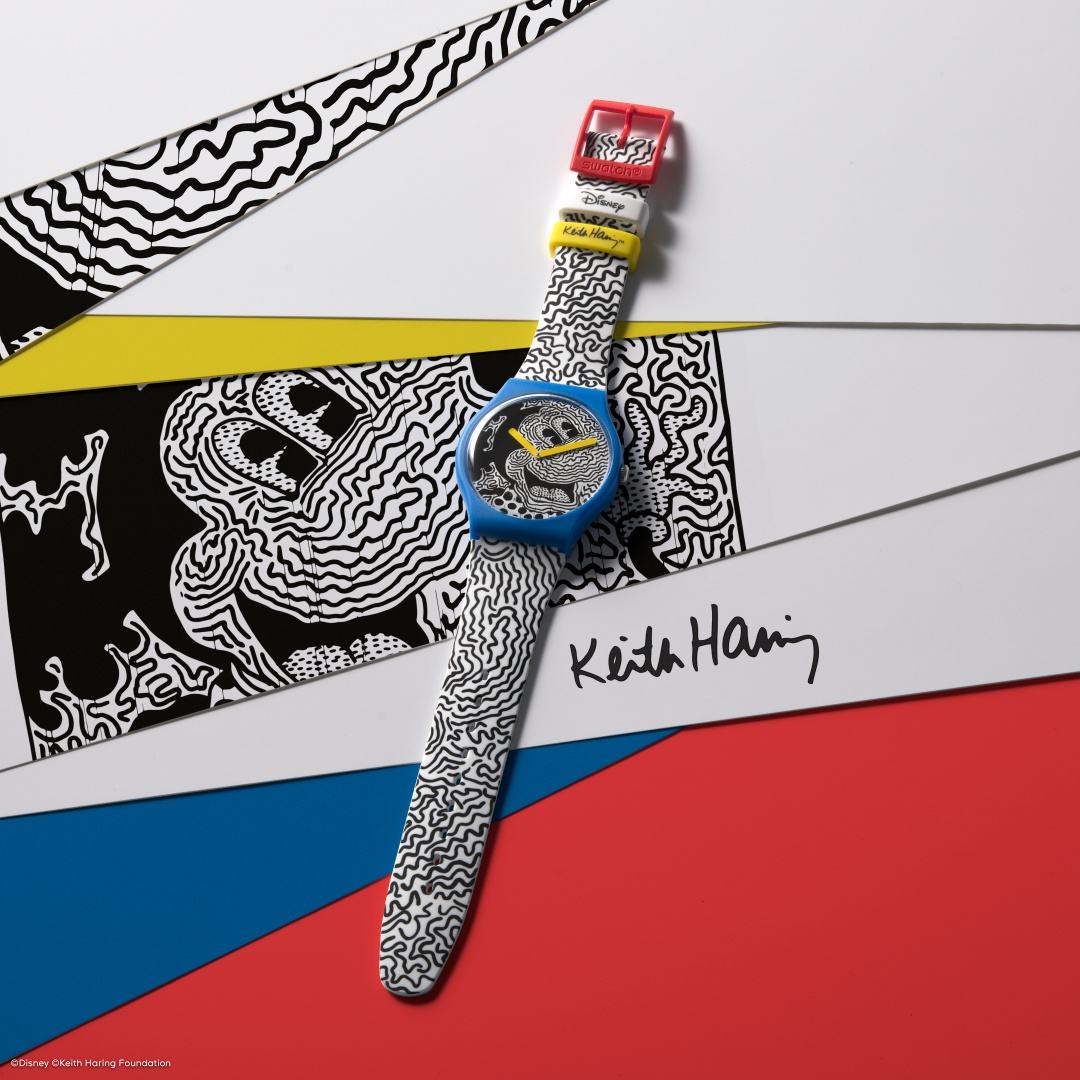 Swatch Disney Mickey Mouse X Keith Haring Eclectic Mickey