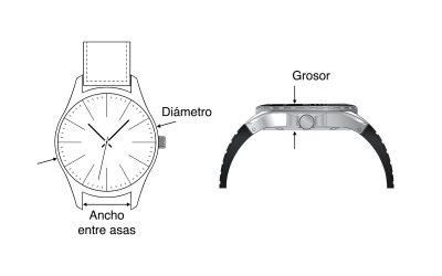 Cómo se mide el tamaño de los relojes