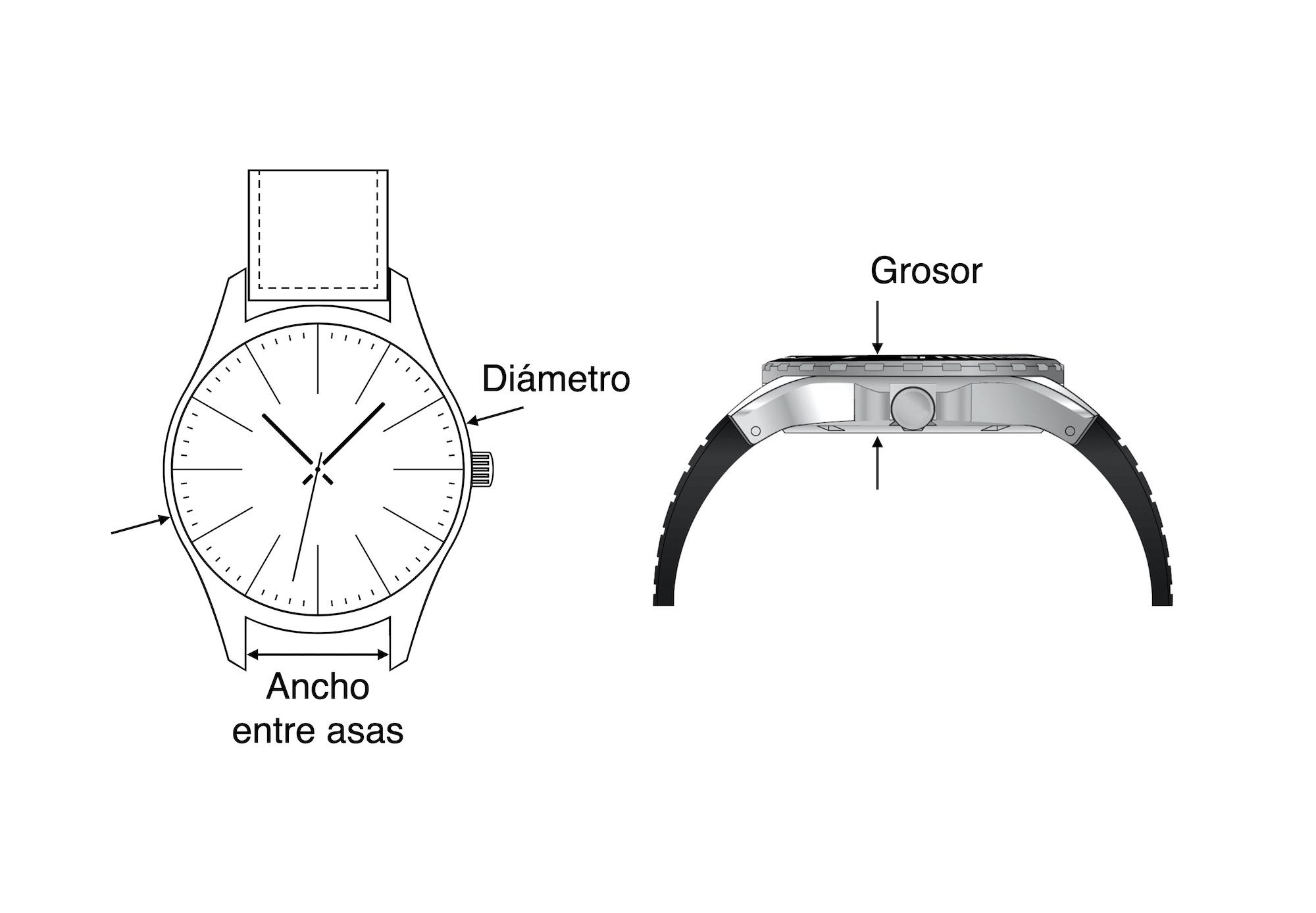 Medidas de un reloj