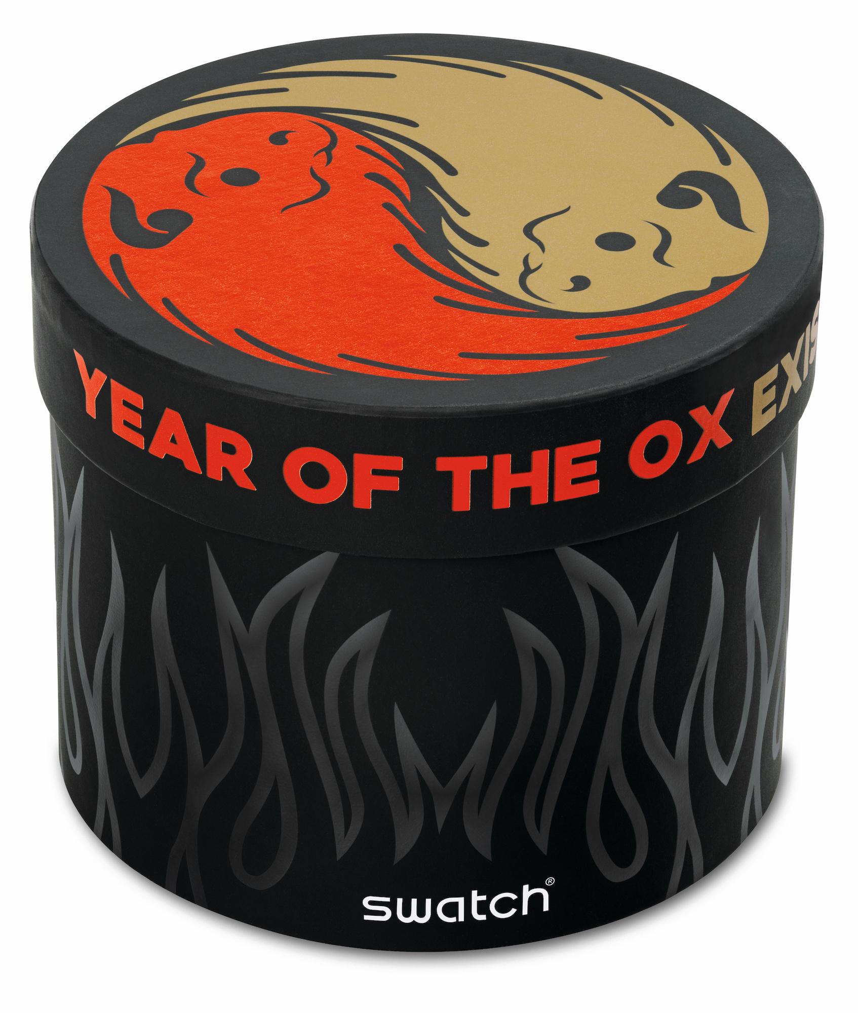 SWATCH OX ROCKS 2021 Detalle estuche