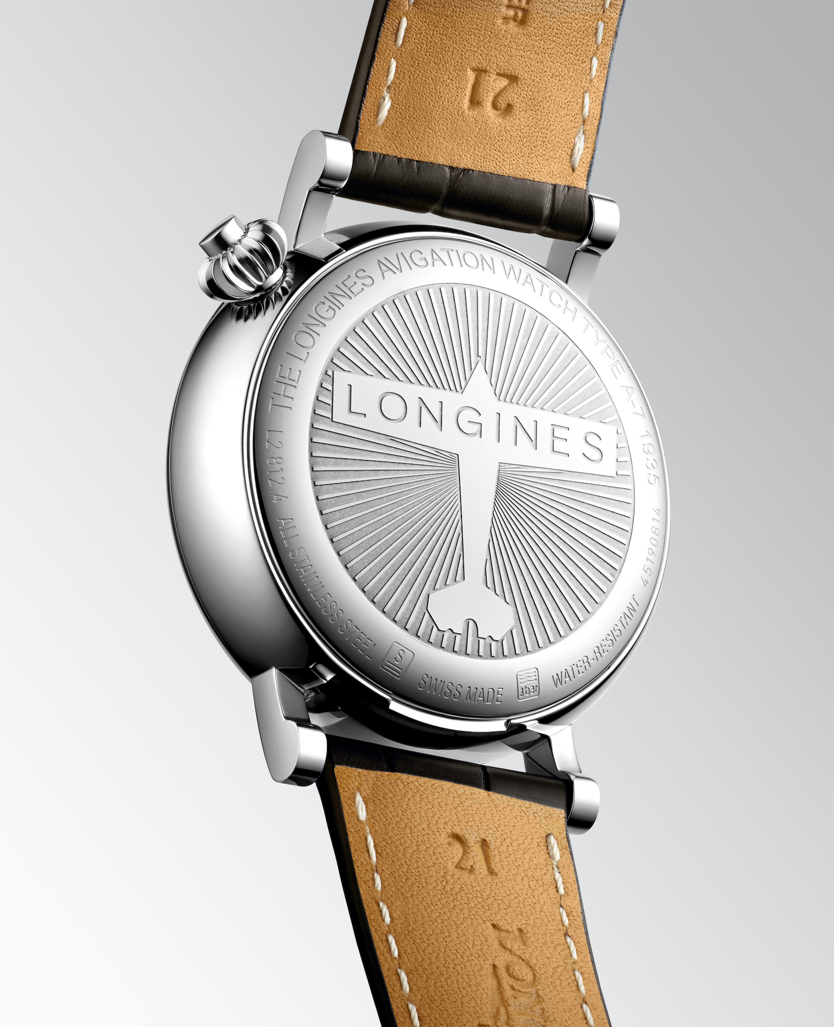 The Longines Avigation Watch A-7 1935 trasera