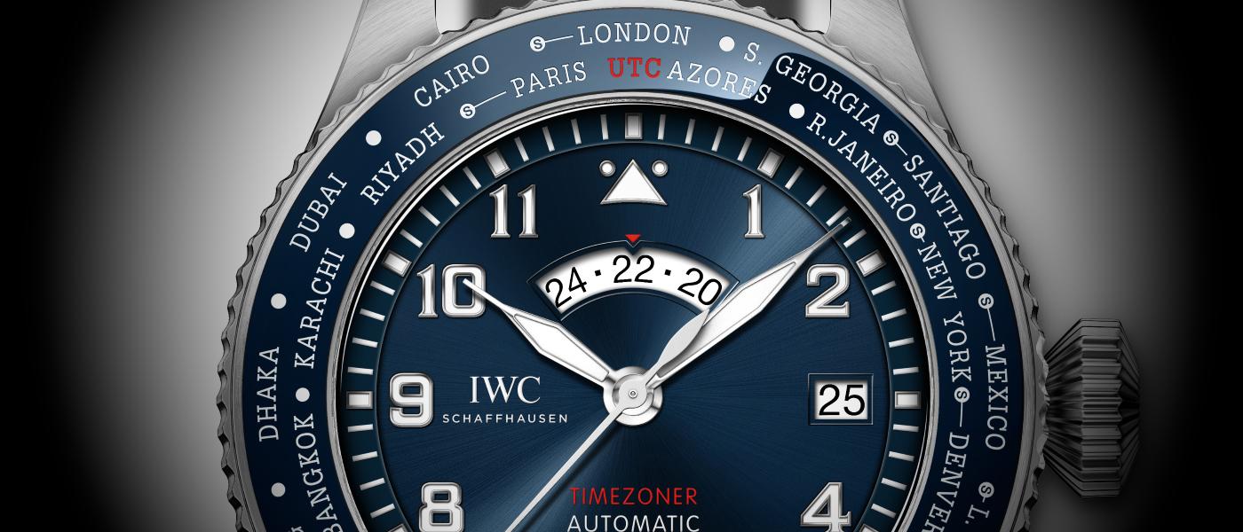 IWC Pilot's Watch Timezoner edición Le Petit Prince detalle esfera y bisel