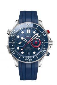 Omega Seamaster Diver 300M Americas Cup Chronograph 210.30.44.51.03.002 Correa caucho